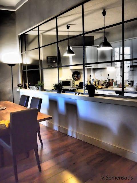 Verrière cuisine & salon - Davis&Co