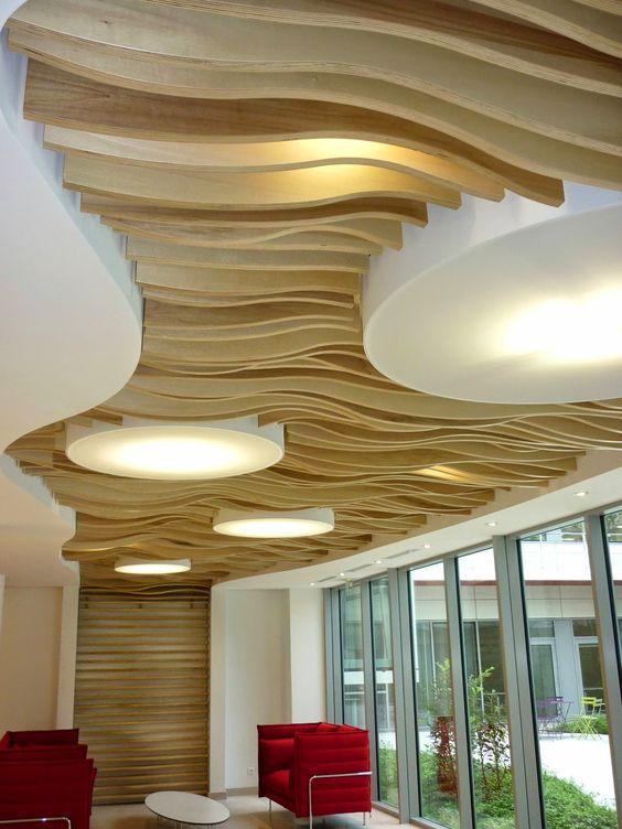 Faux plafond bois - Faux plafonds - Davis&Co