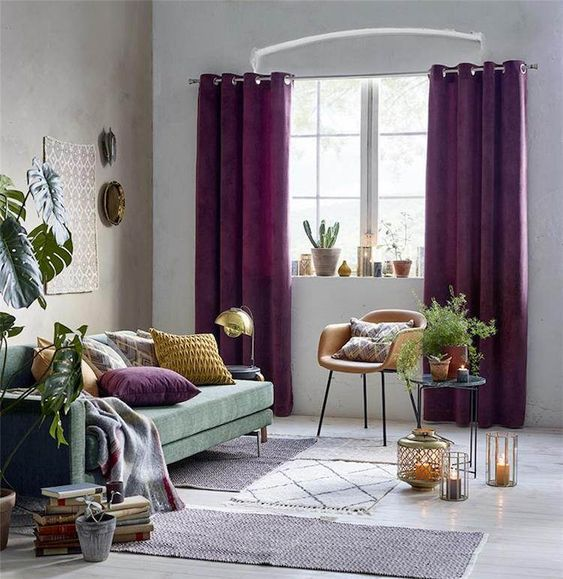 tendances violet aubergine